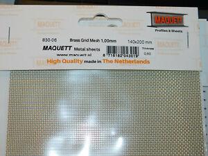 MAQUETT 830-06 BRASS GRID  MESH 1.0mm 140x200mm x 0.6