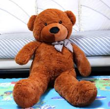 "Giant Teddy Bear Huge Animal Toy Dark Brown Birthday Valentine Gift 47"""
