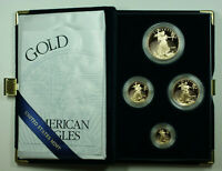 2002 American Eagle Gold Proof 4 Coin Set AGE in Box w/ COA