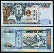 MONGOLIA 1000 1,000 TUGRIK P67 2003 GENGHIS KHAN OX UNC MONGOLIAN BILL BANK NOTE