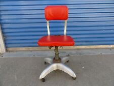 Vintage GoodForm Industrial Swivel Office Chair Rolling Propeller Base Red