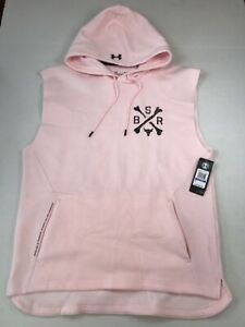 Under Armour Project Rock Pullover Sleeveless Hoodie Sweater Mens Size XL NWT