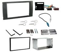 CD RADIO STEREO DOUBLE DIN FACIA SURROUND TRIM CAGE KIT FITS FORD TRANSIT 06-13