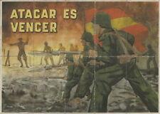 1414 ATACAR ES VENCER ARCHIDONA-MÁLAGA 1941 CUPONES RACIONAMIENTO