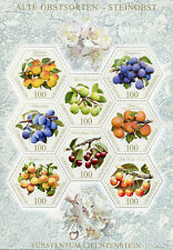 Liechtenstein 2017 MNH Old Fruit Varieties Stone Fruits 8v M/S Nature Stamps