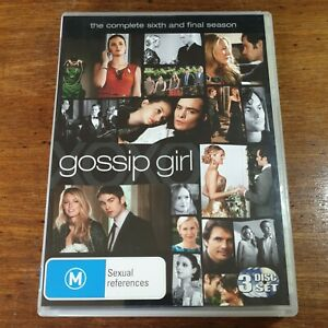 Gossip Girl The Complete Sixth and Final Season 6 DVD R4 Like New! FREE POST