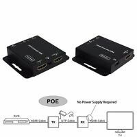 50m POE HDMI Extender Transmitter Receiver + IR cat5e/6 Ethernet Cable 3D 1080P