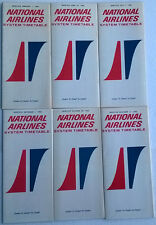 National Airlines timetable lot of 6 1966 complete year [4094] Buy 4+ save 25%