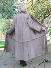 WOMENS 2XL Shearling Lambskin Sheepskin Lamb Coat Jacket Ladies IR4256