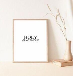 Holy Guacamole kitchen/home decor print/poster