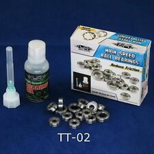 RC Auto TT-02 Upgrade HOP UP HIGH SPEED CUSCINETTI SET con olio per TAMIYA TT02