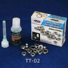 RC Car TT-02 Upgrade Hop Up High Speed Bearing Set with Oil for Tamiya TT02