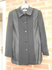 Black  Evening Jacket with Lurex Collar and Side Panels. Size 10