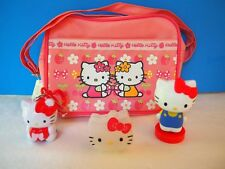 New 9 by 6 Hello Kitty Shoulder Bag , 1 Clip-on, 1 Little Container, 1 Press
