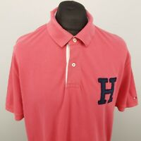 Tommy Hilfiger Mens Vintage Polo Shirt 2XL Short Sleeve Pink Regular Fit Cotton