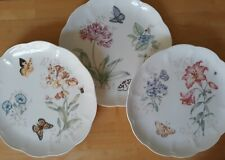 NEW 3 Lenox Butterfly Meadow Dinner Plates, 11-inch, All different