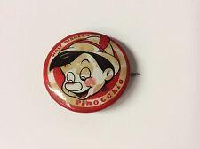 "original vintage 1940's Walt Disney ""Pinocchio"" movie promotional pin Kay Kamen"