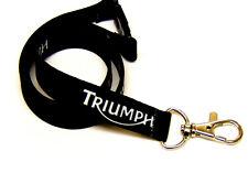 Triumph classic motorbike 15mm neck strap lanyard for ID & keys. Free UK post.