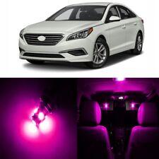 11 x Pink Interior LED Lights Package For 2011 - 2017 Hyundai Sonata + TOOL