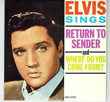 CANADA RCA 2706 COLLECTOR SERIES P SLEEVE 45 RPM ELVIS PRESLEY SINGS RETURN TO S
