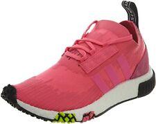Adidas NMD Racer Primeknit Men's Solar Pink/Core Black Running Sneakers US 11 M