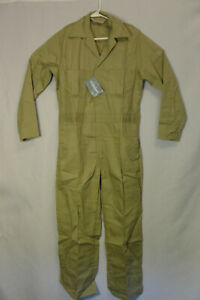Vtg NWT Big Mac Tan Jcpenny Mechanic Worksuit Jumpsuit Coveralls Long Sleeve 38