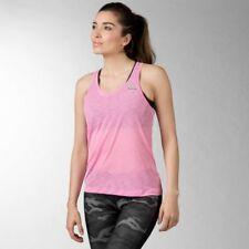 Reebok Workout Ready Stacked Logo Light Slub Tank Size L Pink RRP £22 BNWT