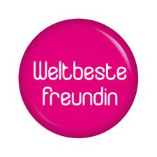 Kiwikatze® Familie: Weltbeste Freundin Button 37mm Button Taufe Geburt