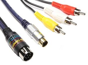 Commodore C64, C128 High Quality S-VIDEO & Composite Video Cable TV Lead, Cord
