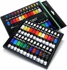 Ohuhu Oil Paint Set, 24 Colors, 12ml x 24 Tubes- Art Painting PROFESSIONAL GRA