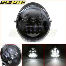 LED Front Headlight Head Lamp Projector For Harley Street Rod V-Rod VRSC VRSCA
