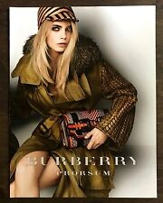 Rare Original 2012 UK Vogue Magazine Advert Art Picture Cara Delevingne Burberry