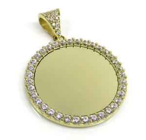 3.30 Grams Mens Ladies 10k Yellow Real Gold CZ Picture Pendant