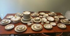 45 Piece Theodore Haviland Limoge Pink Rose China 7 Place Dinner Setting France