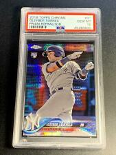 GLEYBER TORRES 2018 TOPPS CHROME #31 PRISM REFRACTOR ROOKIE RC PSA 10 YANKEES F