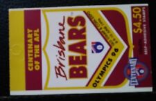 Australia Scott's 1509a. Mnh. Booklet of 10. Brisbane Bears.Sal's stamp store.