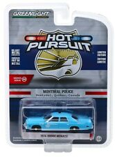 1:64 GreenLight *HOT PURSUIT 32* 1974 Dodge Monaco MONTREAL CANADA POLICE *NIP*