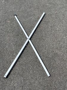EZ UP canopy 2 Support  Beams Replacement Poles 48 Inches Long Each White