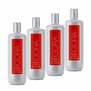 Schwarzkopf Developer Igora Royal 3% - 6% - 9% -12% 1000ml/33.8 oz FREE SHIPPING