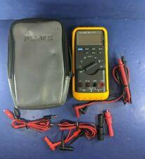 Fluke 83 Multimeter, Excellent, Soft Case, Screen Protector, Accessories