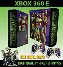 XBOX 360 E NICK TOON TEENAGE MUTANT NINJA TURTLES TMNT SKIN  & 2 PAD SKIN