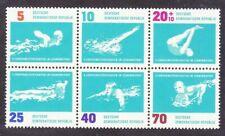 DDR #Mi907-Mi912 MNH 1962 Leipzig Swimming Championships Polo [625a]