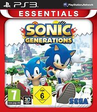 Ps3 jeu sonic generations Essentials 3d Neuf & Emballage D'origine playstation 3