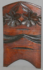 ANTIQUE EUROPEAN HAND CARVING WOOD FLORAL WALL HANGING HANGER