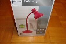 Realspace Desk - Task LAMP / PINK-Adjustable goose neck + CFL bulb / NEW