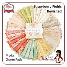 Strawberry Fields Revisited Moda Fabric Charm Pack floral fabrics pastel vintage