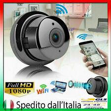 MINI TELECAMERA WIRELESS WIFI 1080P HD IR VISIONE NOTTURNA PER ESTERNO INTERNO