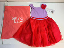 American Girl Doll Bitty Baby Flutter & Fly Dress Child Size Small W/tags