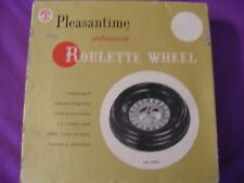 Pleasantime Professional Roulette Wheel 1958