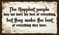 (HappyPeople) WALL DECOR, DISTRESSED, RUSTIC, PRIMITIVE, HARD WOOD, SIGN, PLAQUE